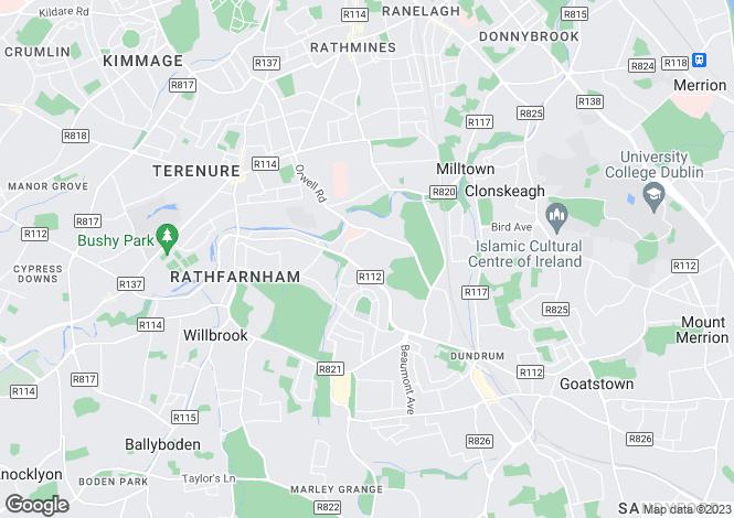 Map for Churchtown, Dublin