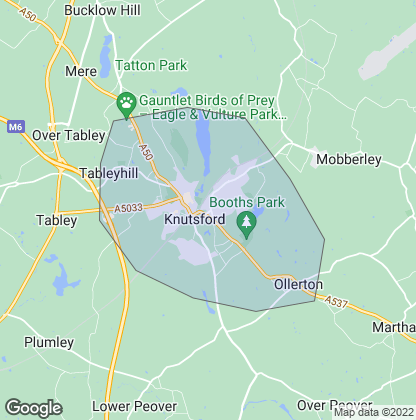 Map of property in Knutsford