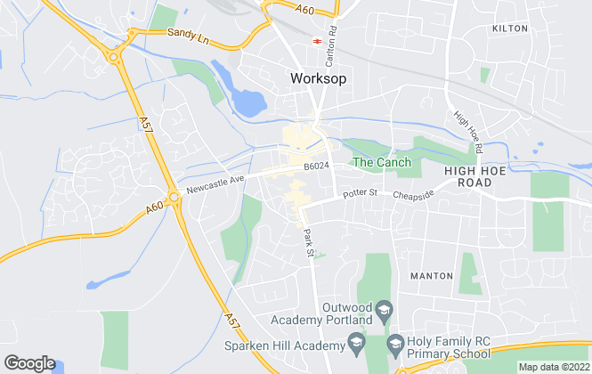Map for William H. Brown - Lettings, Worksop - Lettings