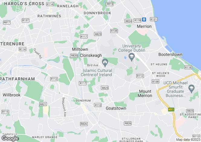 Map for 34 White Oaks, Friarsland, Clonskeagh, Dublin 14, D14 E527