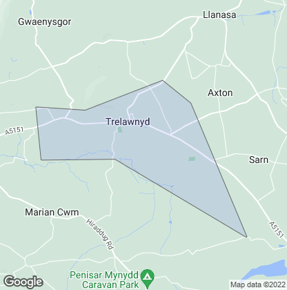 Map of property in Trelawnyd
