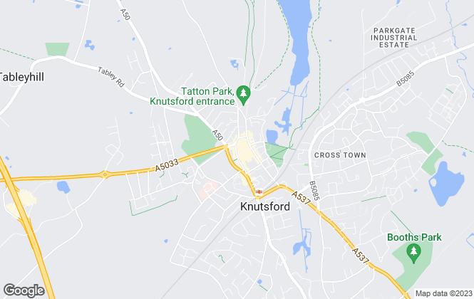 Map for Savills, Knutsford