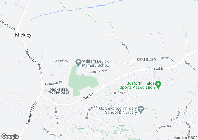 Map for 24, Smithy Croft, Dronfield Woodhouse, Dronfield Woodhouse