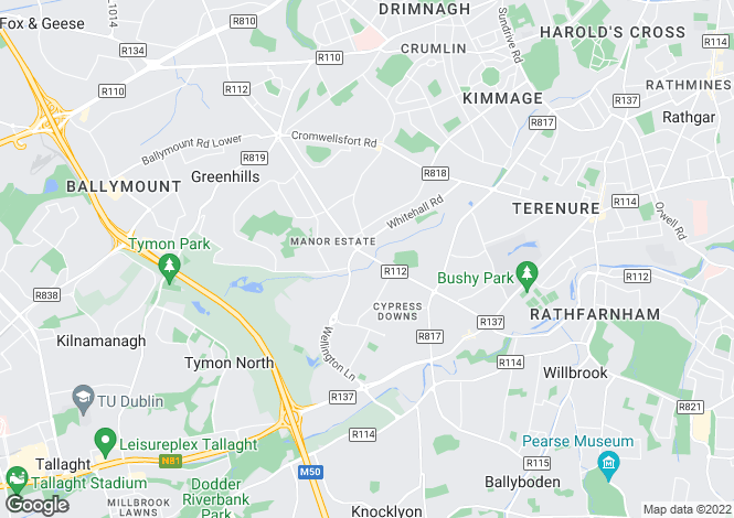 Map for 120 Templeville Road, Templeogue, Dublin 6W