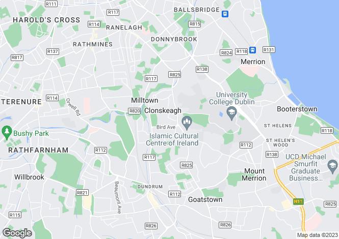 Map for Clonskeagh, Dublin