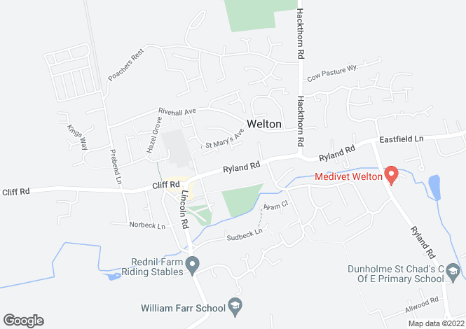 Map for Ryland Road, Welton, LN2