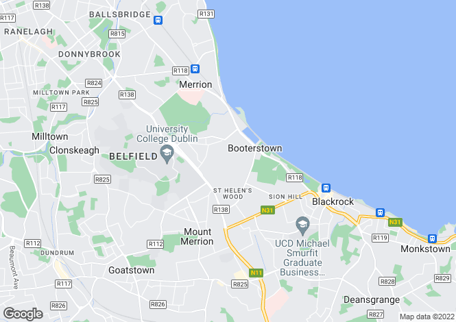 Map for 146 Seamount, Stillorgan Road, Booterstown, Co. Dublin