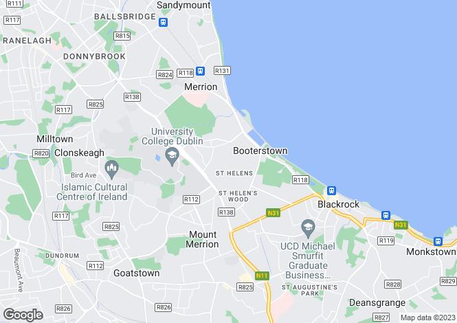 Map for 7 Fosterbrook, Stillorgan Road, Booterstown, Co Dublin