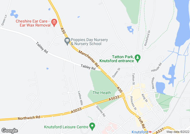 Map for Beechwood, Tabley Road, Knutsford