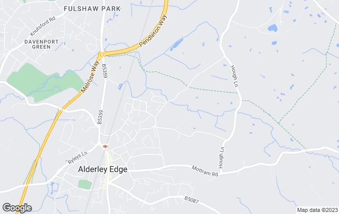 Map for Orbit Developments, Alderley Edge