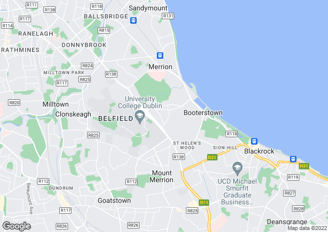 Map for 22 Glenomena Grove, Booterstown, Co. Dublin, A94 XC61