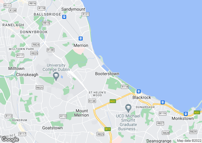 Map for Booterstown, Dublin