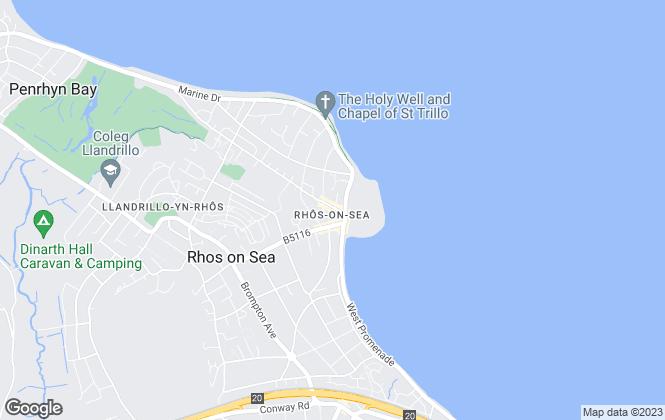 Map for Bryan Davies + Associates, Rhos On Sea