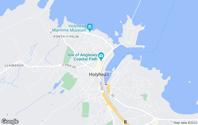Map for Dafydd Hardy, Holyhead