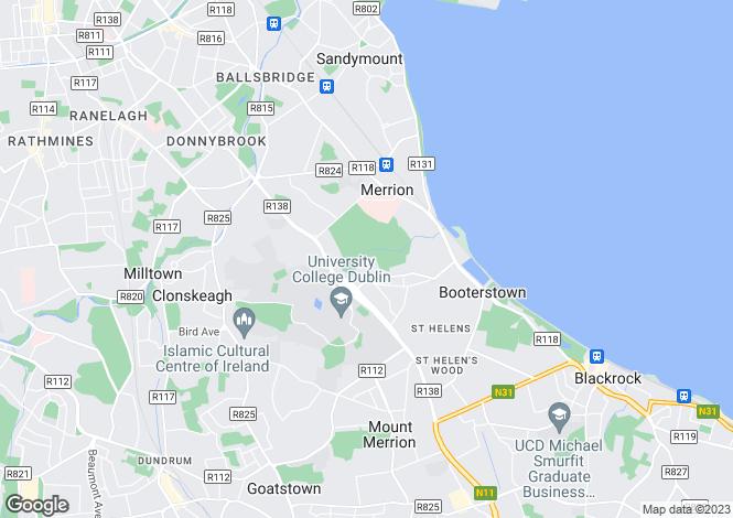 Map for 24 The Elms, Donnybrook, Dublin 4