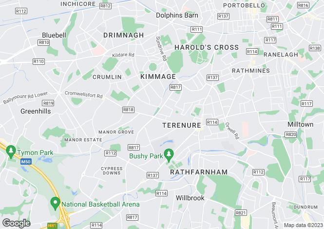Map for Terenure, Dublin