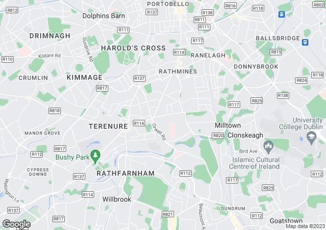 Map for 49 Hillcourt, Rathgar,   Dublin 6