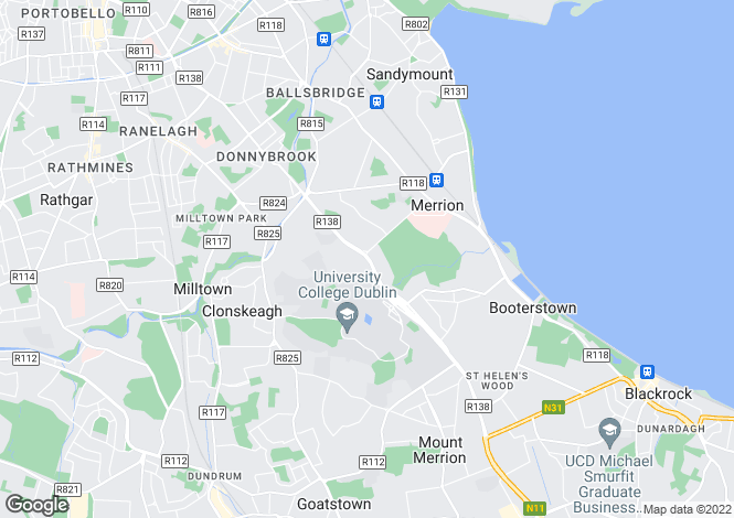 Map for 129 Stillorgan Road, Donnybrook,   Dublin 4