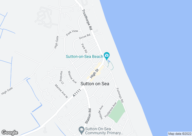 Map for High Street, Sutton On Sea, LN12