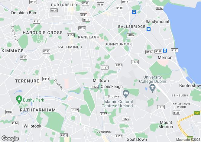 Map for 4 Milltown Avenue, Mount St. Annes, Milltown, Dublin 6
