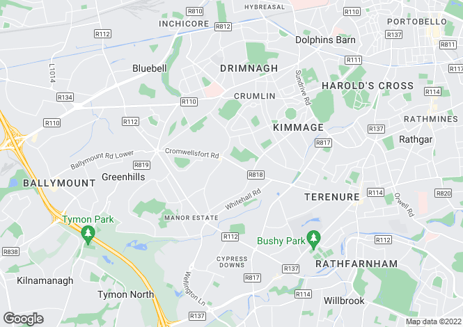 Map for 157 Kimmage Road West, Dublin 12