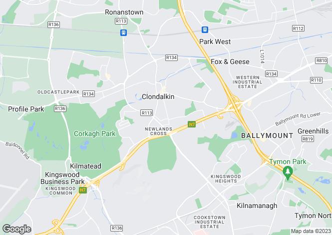 Map for Clondalkin, Dublin