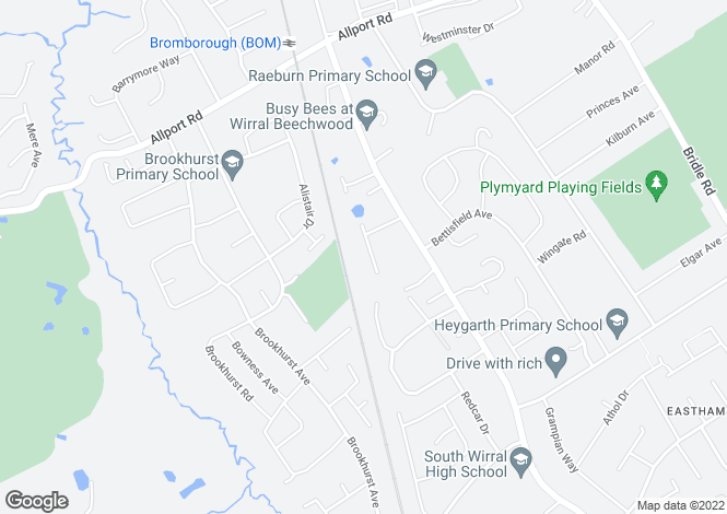 Map for Crossdale Road, Bromborough