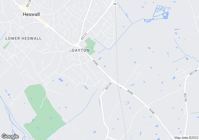 Map for Wenvoe Chester Road Gayton, Gayton