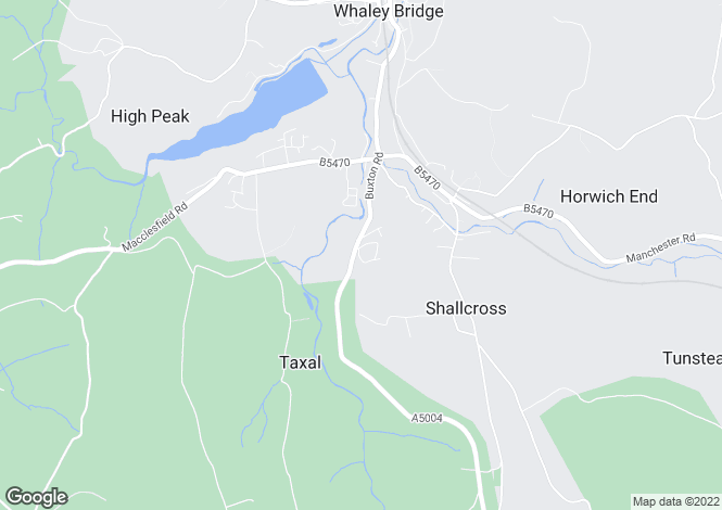 Map for Buxton Road, Whaley Bridge