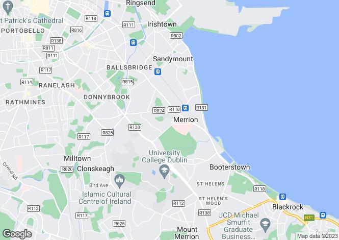 Map for 34 & 34B Nutley Avenue, Ballsbridge, Dublin 4