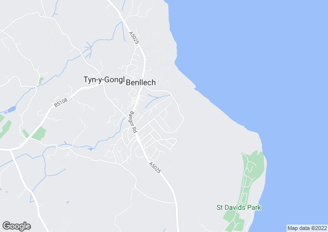 Map for Benllech, Anglesey