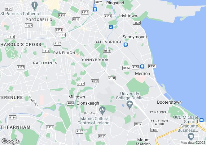 Map for Dunbur, Brookvale Road, Donnybrook