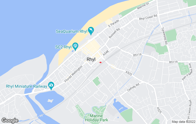Map for Reid & Roberts, Rhyl