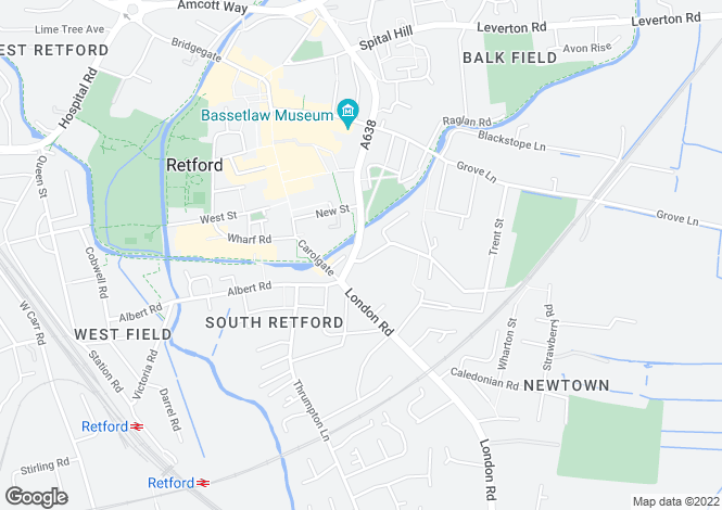 Map for Flats 1-12, Dominie Cross Road, Retford, Nottinghamshire, DN22 6NL