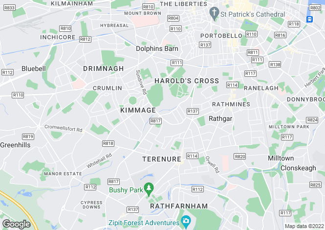 Map for 166 Kimmage Road Lower, Dublin 6W