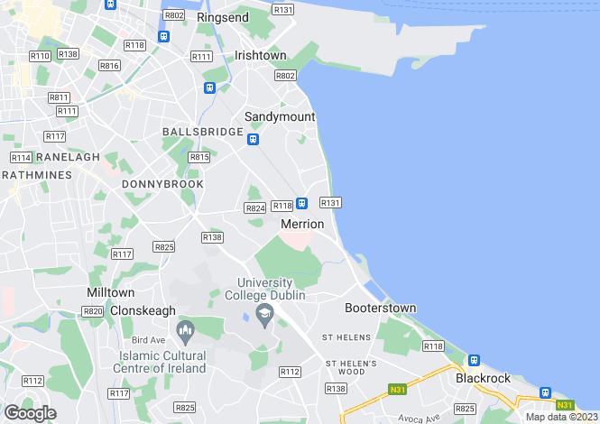 Map for 8 Ailesbury Park, Ballsbridge, Dublin 4, D04 X3K7