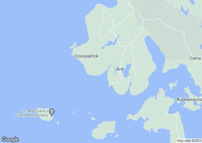 Map for Bru Na Mara, Mace, Carna, Connemara