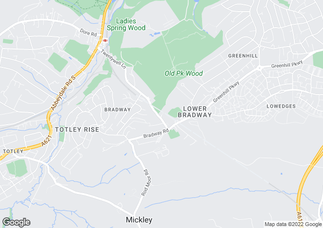 Map for 5 Woodvale,211, Twentywell Lane, Bradway, Sheffield