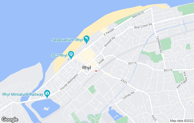 Map for William Gleave, Rhyl