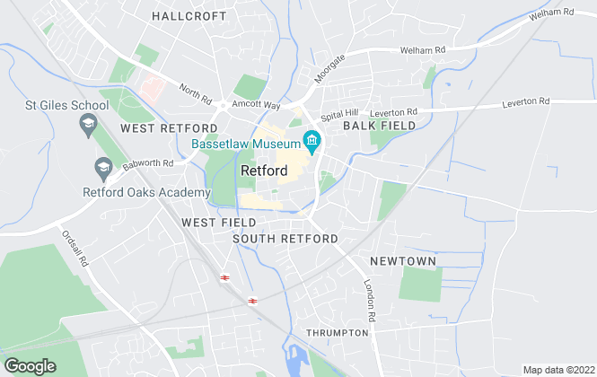Map for Newton Fallowell, Retford