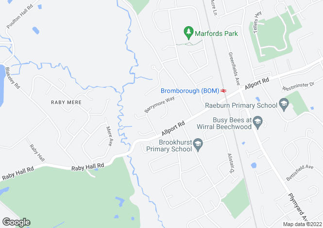 Map for Maelor Close, Bromborough