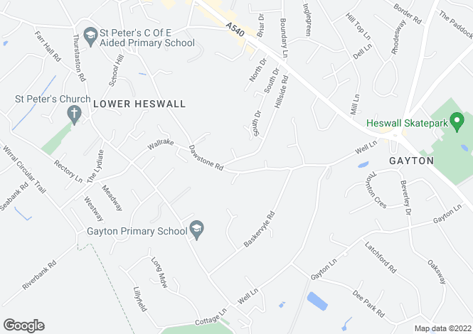 Map for Chattan House, 43 Dawstone Road, Heswall, Wirral