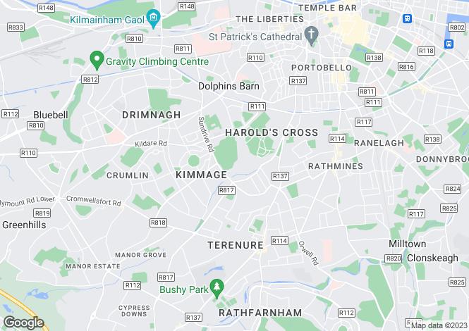 Map for 30 Church Park Drive, Mount Argus, Harold's Cross, Dublin 6W