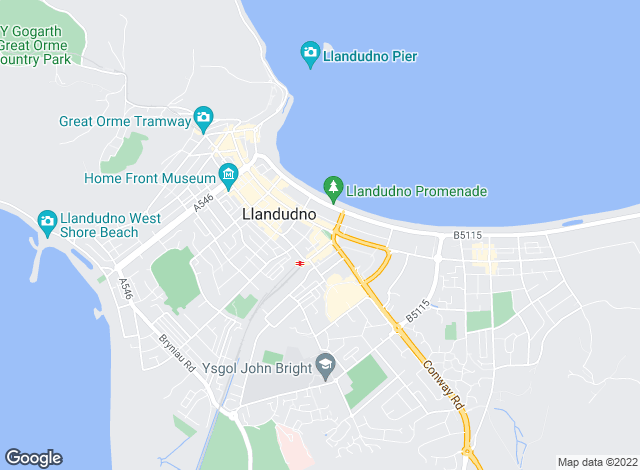 Map for Bryan Davies + Associates, Llandudno