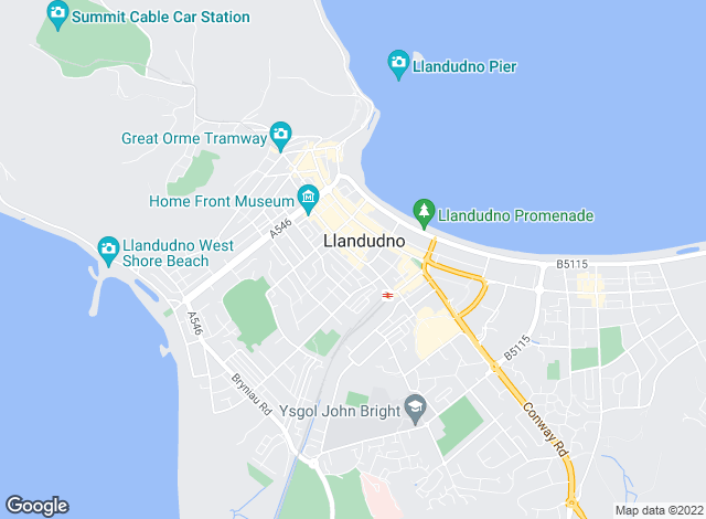 Map for Peter Large Estate Agents, Llandudno