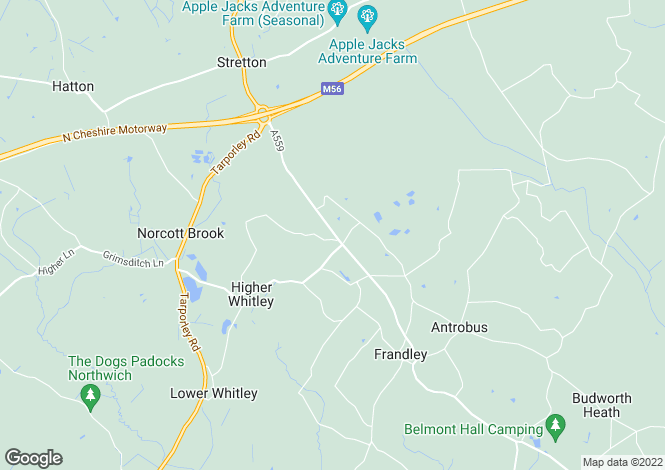 Map for Northwich Road,