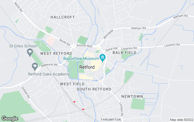 Map for Town & Country Rentals, Retford