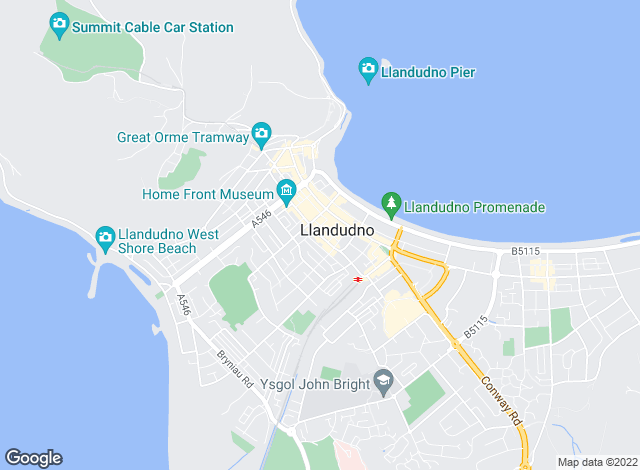 Map for Beresford Adams Lettings, Llandudno