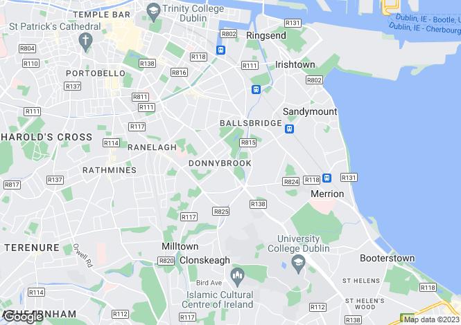 Map for 87 Pembroke Cottages, Donnybrook, Dublin 4