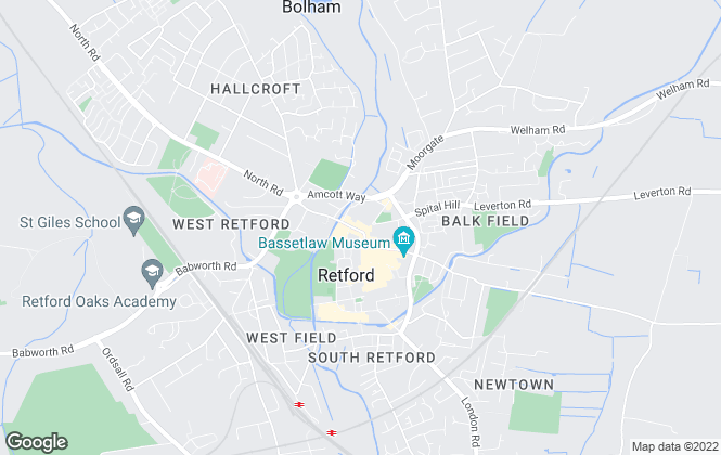 Map for Northwood, Retford